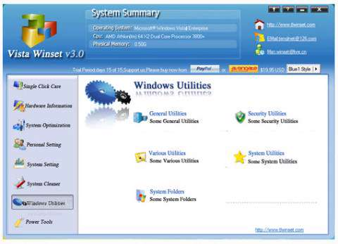 Windows Winset 4.1.0.1