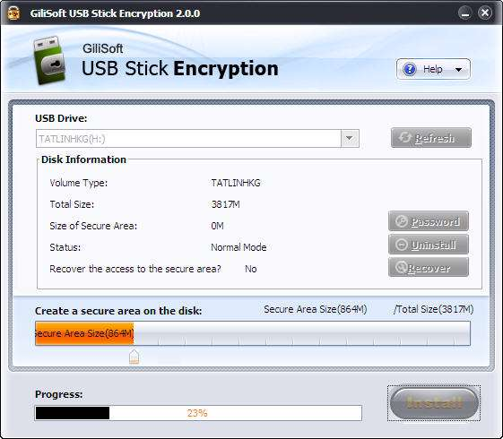 GiliSoft USB Stick Encryption 2.0