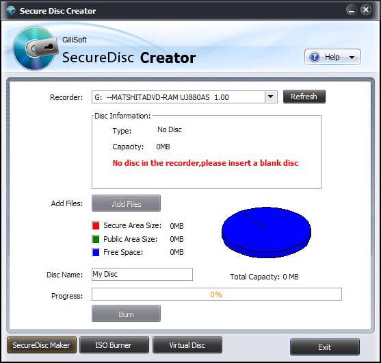 Secure Disc Creator v2.1