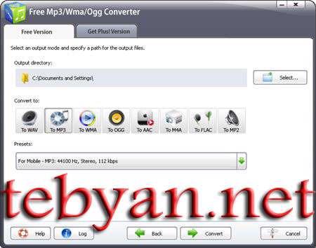 Free Mp3 Wma Ogg Converter 5.3.3