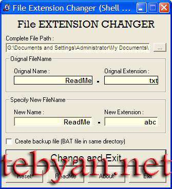File Extension Changer 3.3