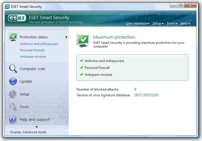 ESET smart security home edition 4.2.58.3 x86