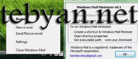 Windows Mail Minimizer 0.1