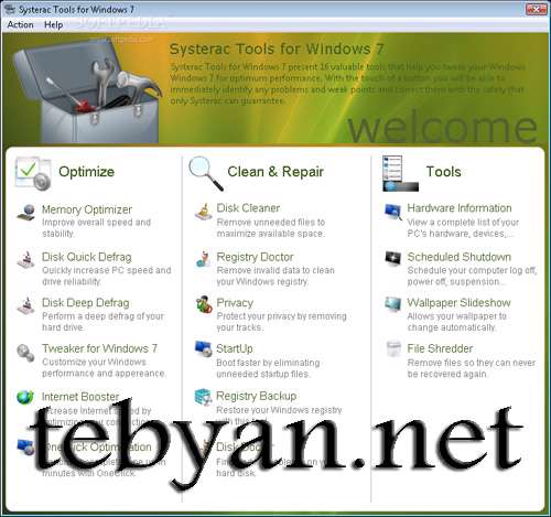 Systerac Tools for Windows 7 2010.v3.00