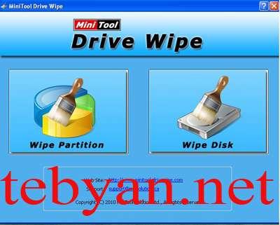 Free Disk Wipe   MiniTool Drive Wipe