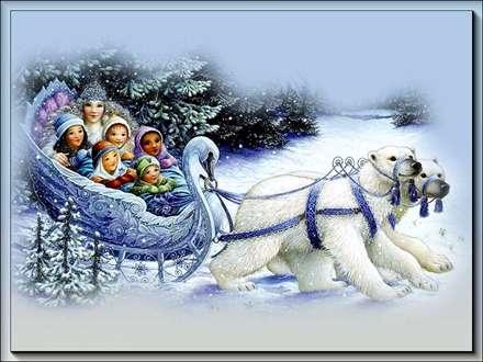 خرس سورتمه بابا نوئل