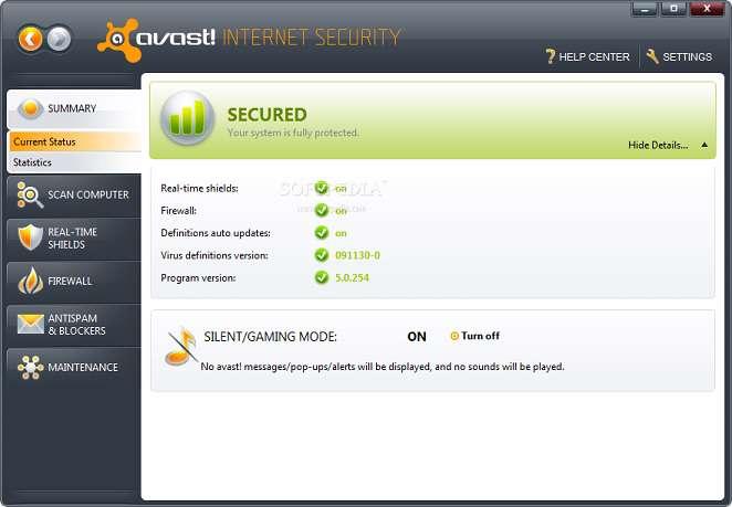 Avast! internet security 5.0.677