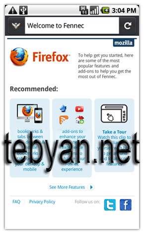 Mozilla Fennec v1.9.3