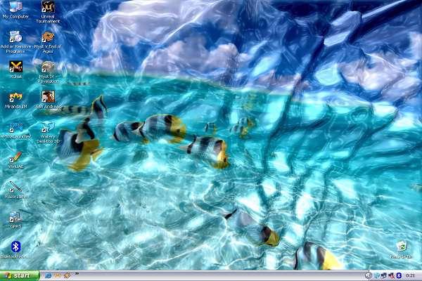 Portable Watery Desktop 3D ScreenSaver v3.5.2.0