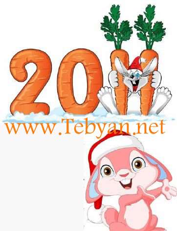 Vector New Year Rabbit 2011
