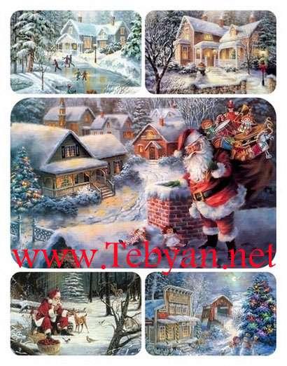 نقاشی های زیبا به مناسبت سال نو میلادی