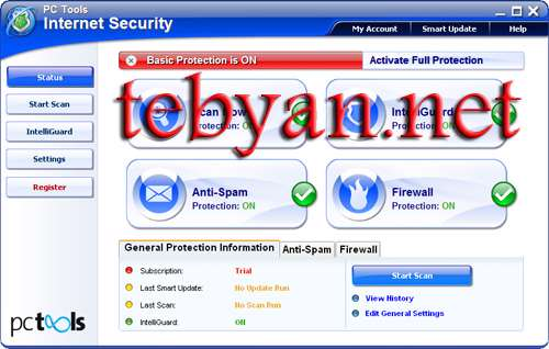 PC Tools Internet Security 2011 8.0.0.623