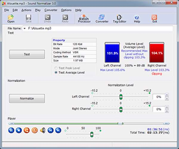 Sound Normalizer 3.3