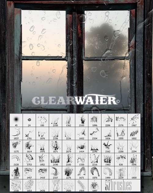 براش ایجاد قطره و لکه آب برای استفاده طراحان و گرافیست ها
