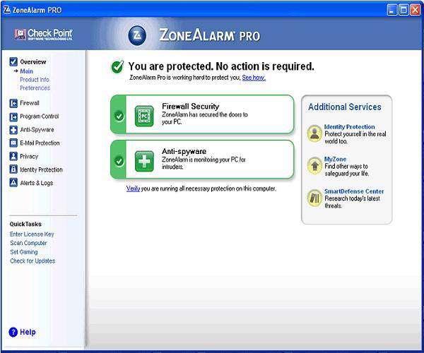 ZoneAlarm Pro 10.0.250.000