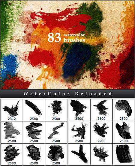دانلود براش آبرنگ(Watercolor Brushes) جهت استفاده طراحان و گرافیست ها