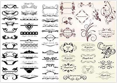 تصاویر با کیفیت وکتور عناصر تزئینی