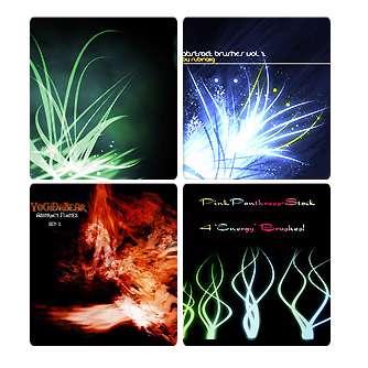 مجموعه ی براش های خطوط نورانی جهت استفاده طراحان و گرافیست ها