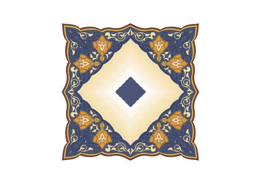 دانلود نمونه طرح اسلامی، ترنج گل و برگ و طرح های اسلیمی