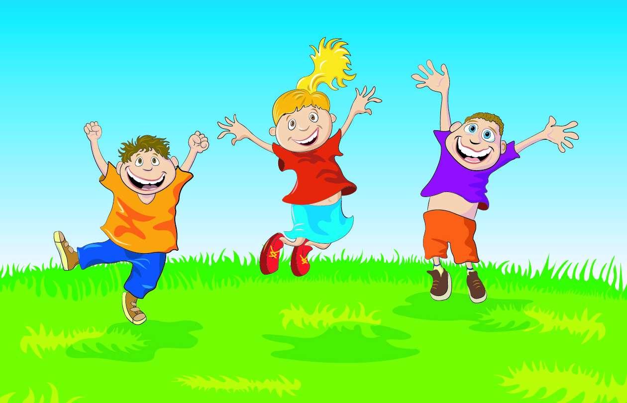 تصاویر وکتور کودکان شاد Kids Vector