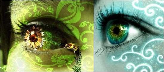 آموزش مرحله به مرحله خلق یک جفت چشم فانتزی در فوتوشاپ