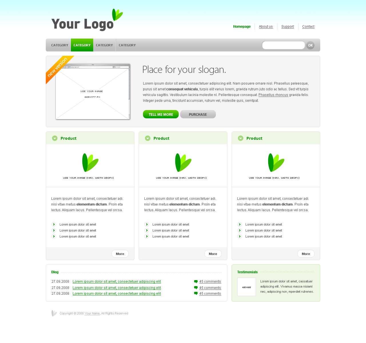 قالب های ساده و زیبا برای کمک به طراحان سایت