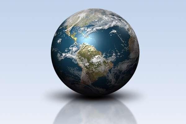 آموزش خلق یک کره زمین درخشان با لایه های 3بعدی در فوتوشاپ