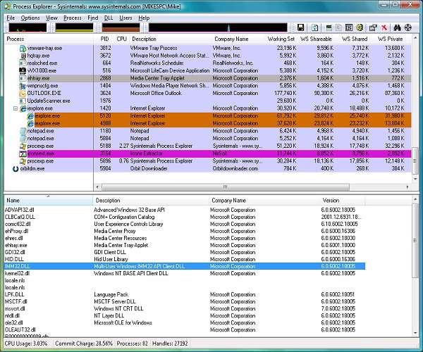 Process Explorer 15.03