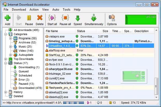 Internet Download Accelerator 5.10.1.1269