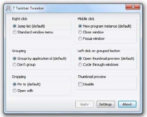 Seven Taskbar Tweaker 2.1.6 مدیریت تسک بار ویندوز