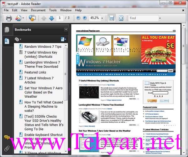 Seven PDF WebSite Converter