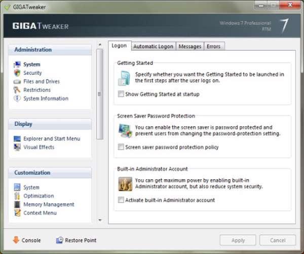 GIGATweaker 3.1.3.460  بهینه کننده ویندوز