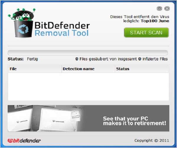 BitDefender  Removal Tool ضد جاسوسی و تروجان