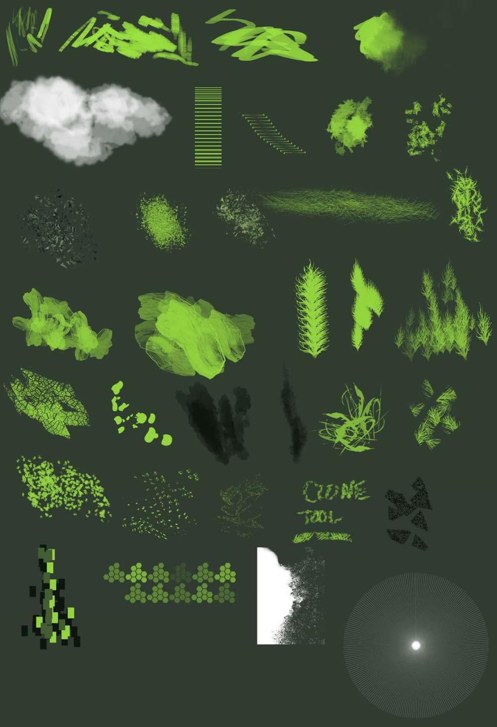 براش ایجاد لکه، ایجاد ابر جهت استفاده طراحان و گرافیست ها