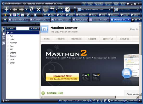 Maxthon 3.1.8.1000 مرورگری برای همه