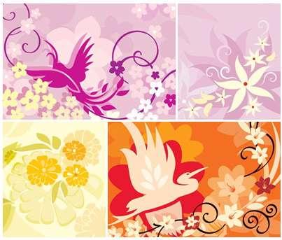 دانلود تصاویر با کیفیت  پترن های گل دار Floral Patterns