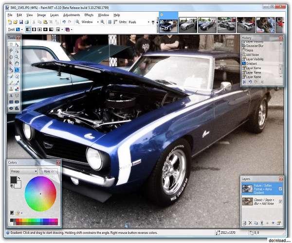 Paint.NET 3.5.9 - ویرایش عکس