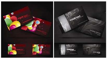 تصاویر با کیفیت بالا و وکتور کارت ویزیت تجاری خلاقانه