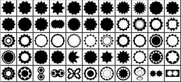 دانلود شیپ هایی به شکل دایره، ستاره، منحنی Waved Shapes