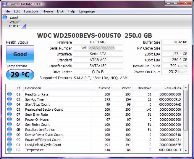 اطلاعات هارددیسک با CrystalDiskInfo 4.1.1 Portable