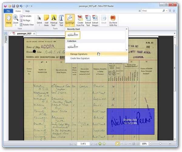 Nitro PDF Reader 2.1 - مدیریت فایل  PDF