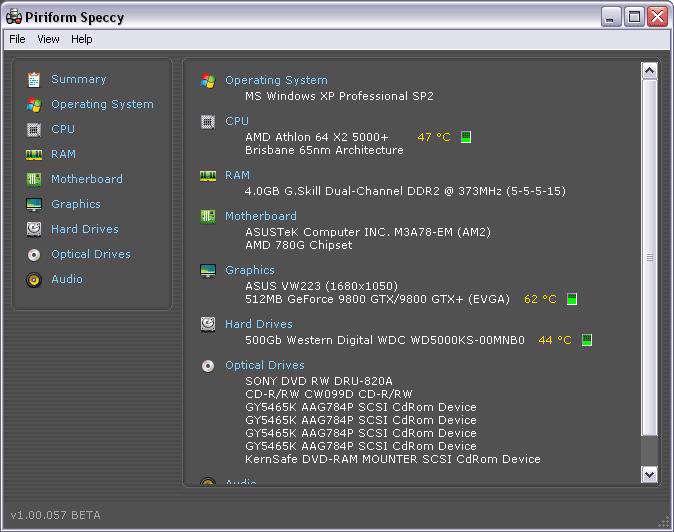 نمایش اطلاعات سیستم کامپیوتر با Speccy 1.13.276