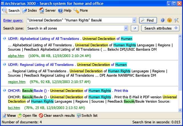جستجوی سریع در فایل ها و اسناد با Archivarius 3000 v4.46