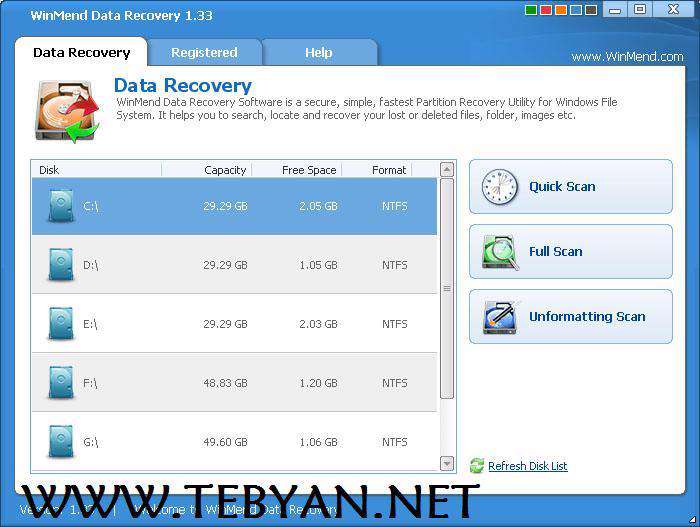 بازیابی اطلاعات توسط WinMend Data Recovery 1.4.1.0