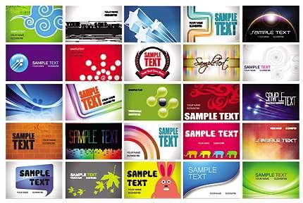 تصاویر وکتور کارت ویزیت تجاری Business Cards