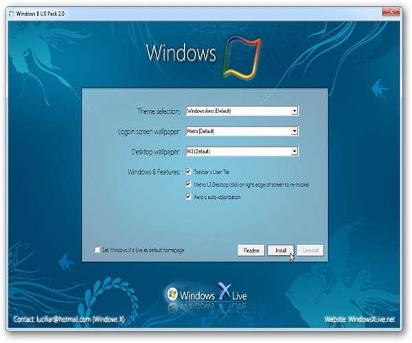 Windows 8 UX Pack 3.5 - تم  زیبا  از ویندوز 8