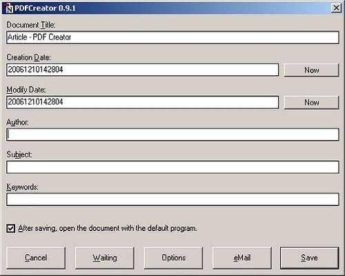 ساخت و ویرایش پی دی اف با PDFCreator 1.2.3