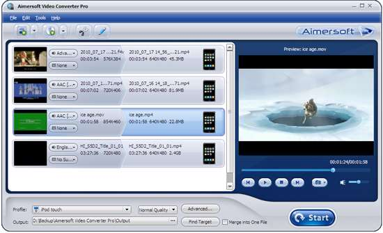 تبدیل فرمت تصویری Aimersoft Video Converter Professional 2.7.2.0