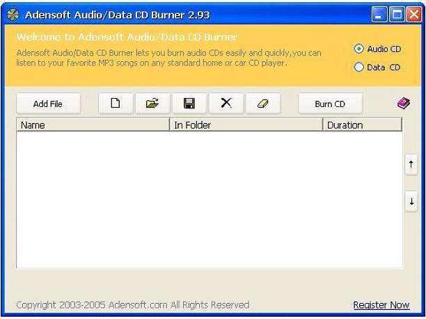 نرم افزار رایت / Adensoft Audio Data Burner v3.0