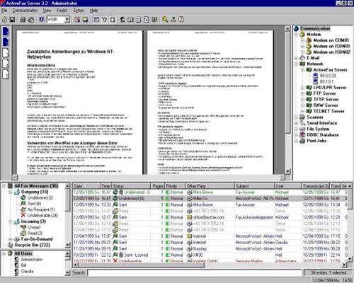 ارسال و دریافت فکس با ActiveFax v4.27.0223